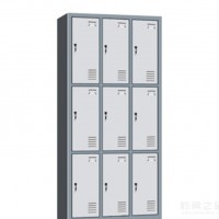 钢制学校long8国际平台娱乐文件柜员工物品储存柜9门定制