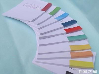 干部、人事档案盒十大分类纸、隔页纸 一类到十类十种颜色