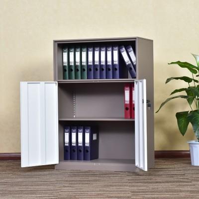 钢制拆装文件柜办公室档案柜a4办公桌边柜带锁落地套色储物柜
