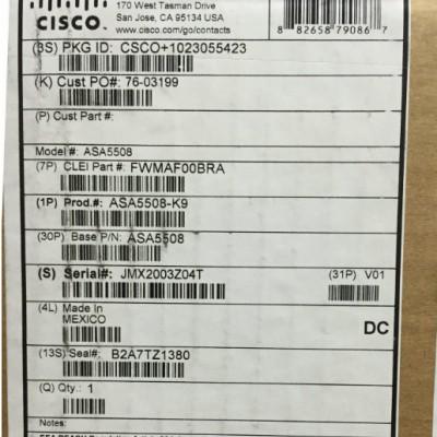 cisco ASA5508-K9 防火墙 5508-X 企业级防火墙