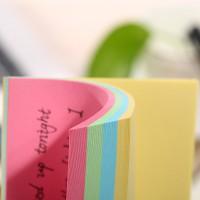 跨境亚马逊彩纸叠色便利贴定制 创意彩色纸n次贴便签本便签纸厂家