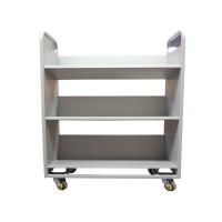 图书馆书车二层v型静音档案书车图书馆设备小推车平板书车可批发
