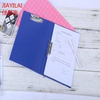 A4塑料文件夹PP深蓝色双强力夹,档案夹办公用品收纳夹定制LOGO