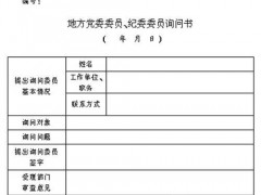 地方党委委员、纪委委员开展党内询问和质询办法(试行)(2007年4月22日)